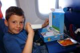 Ужин на борту самолета