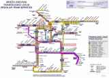 Схема трамвайных маршрутов Загреба