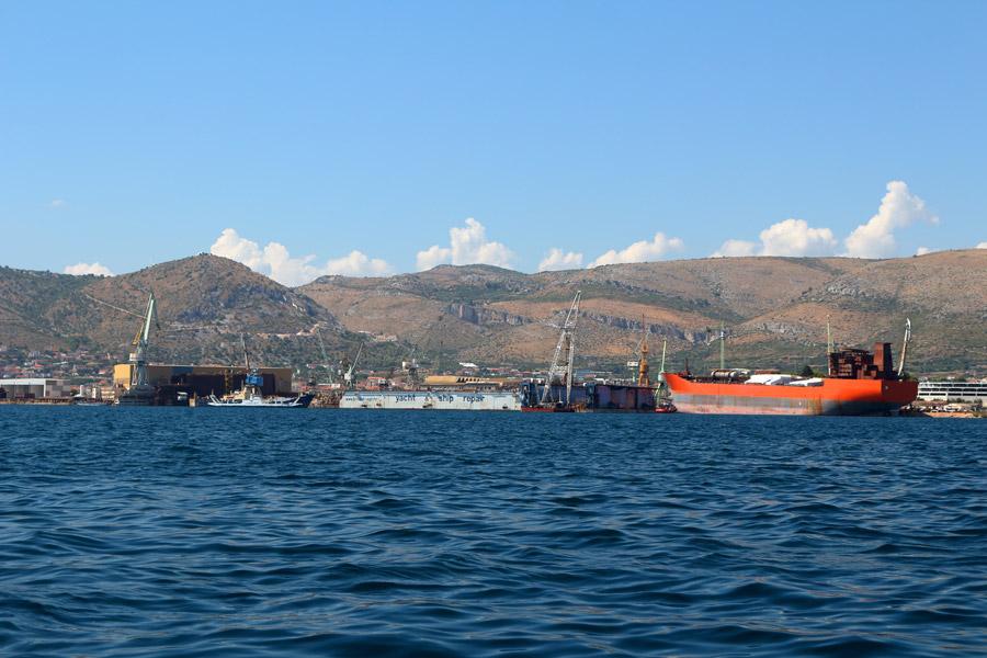 На катере Okrug Gornji-Trogir