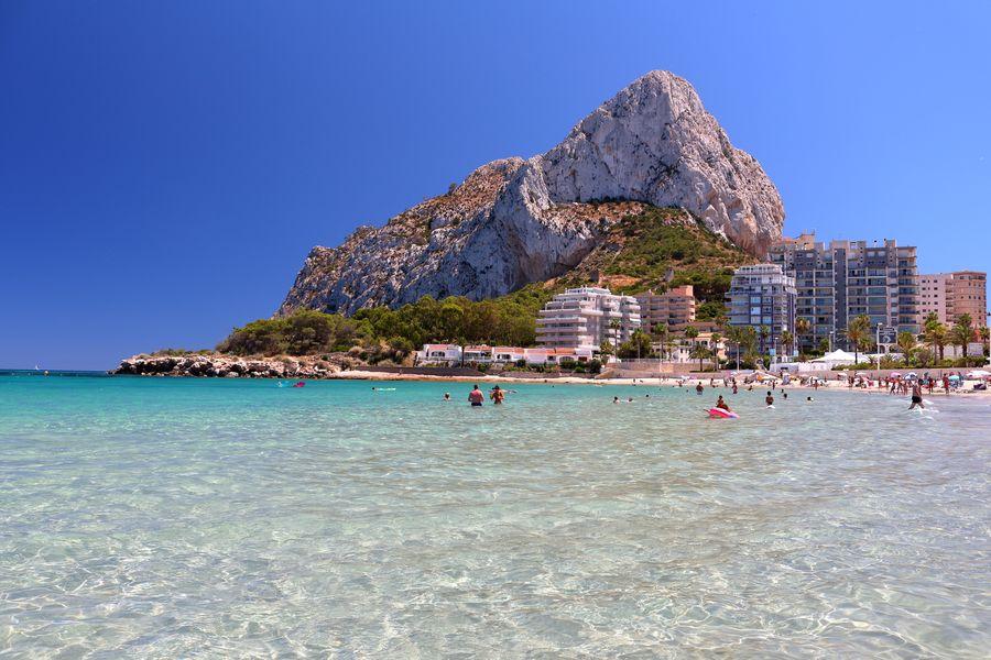 Кальпе, городской пляж