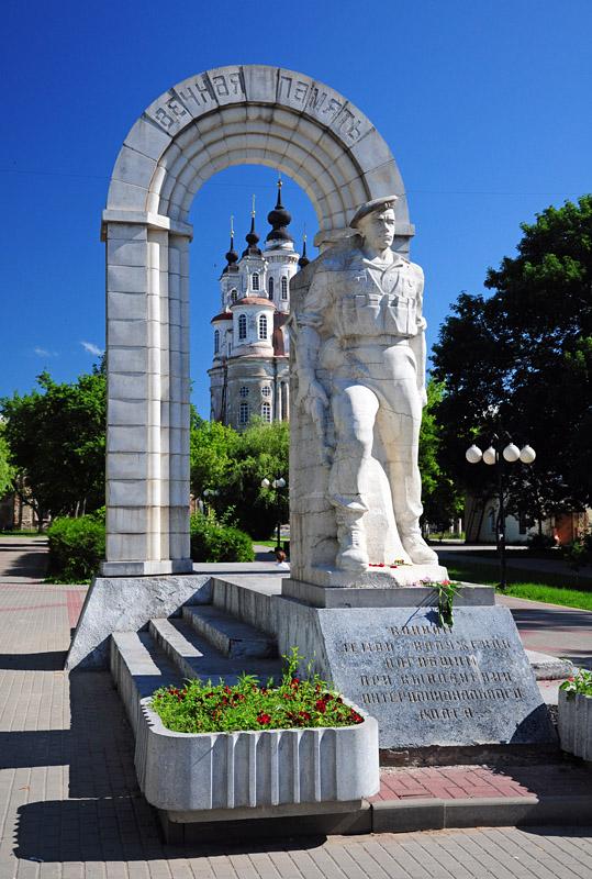 Калуга, сквер на площади Победы