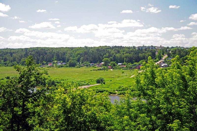 Калуга, Правый берег (вид со смотровой площадки парка)