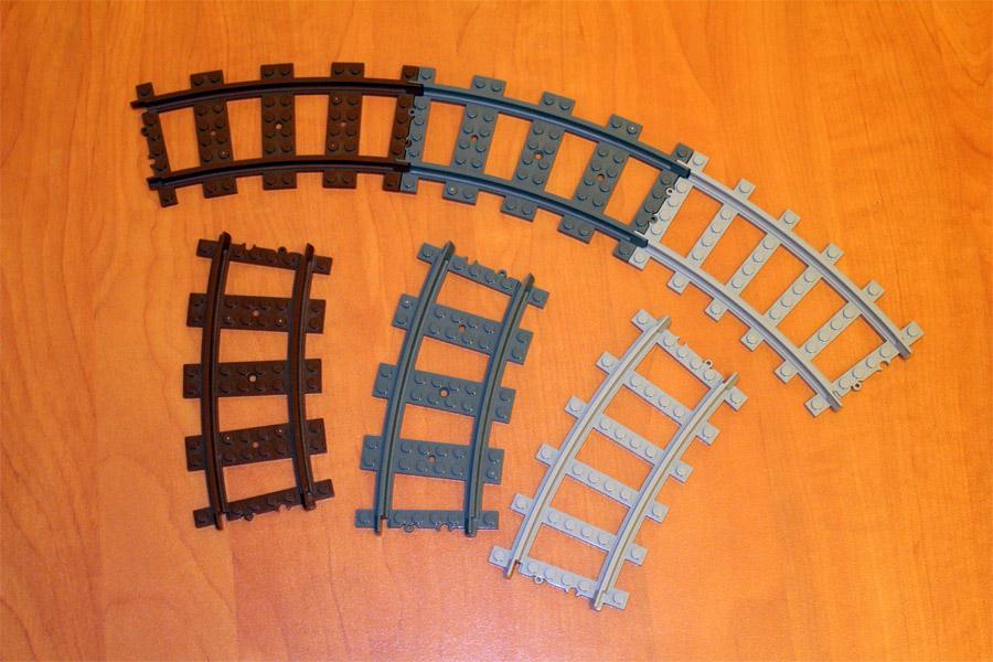 Рельсы Brick, Lego и Ausini