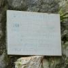 Пещера Враняча: мемориальная табличка