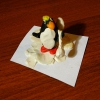 Пингвин с гантелей