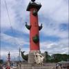 Петербург, ростральные колонны-маяки на стрелке Васильевского острова