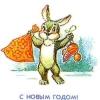 Российская Федерация. 05.11.91. С Новым годом! 130410. Заяц с новогодними подарками.