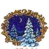 Российская Федерация. 04.12.92. С Рождеством! З.130400. С карточкой. Зимний лес.