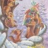 Российская Федерация. 29.11.91. Поздравляю с Новым годом! З.8248. 20млн. Белка с бельчатами.