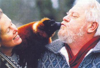 """Джеральд Даррелл, фотография журнала """"Вокруг света"""", 1994 год"""
