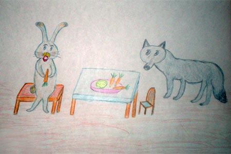 Волк и заяц