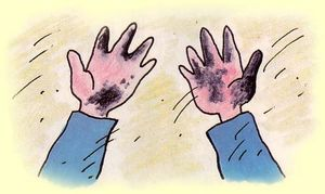 Руки оказались грязными...