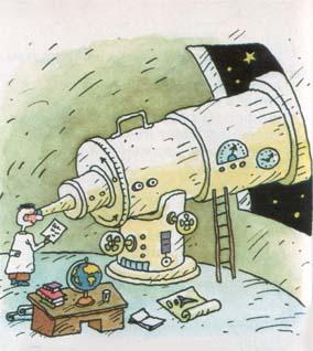 Глядит по ночам в телескоп...