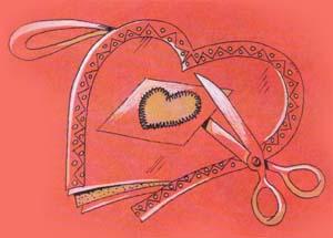 Ситцевое сердечко