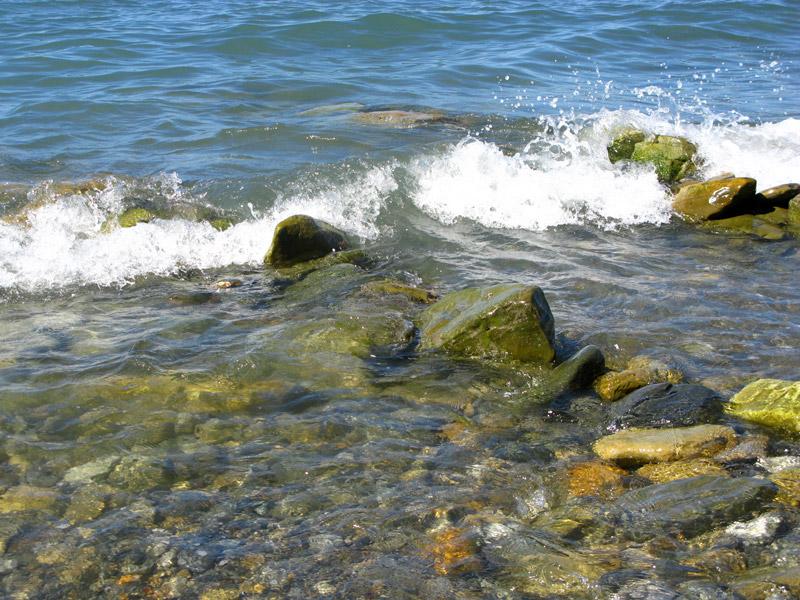 Анапа, море на пляжах Высокого берега