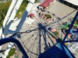 Геленджик, колесо обозрения на горе в парке Олимп