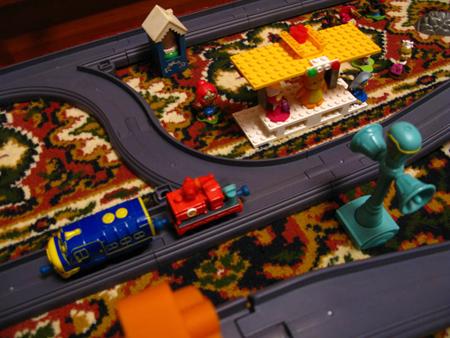 Брюстер и пожарный вагон