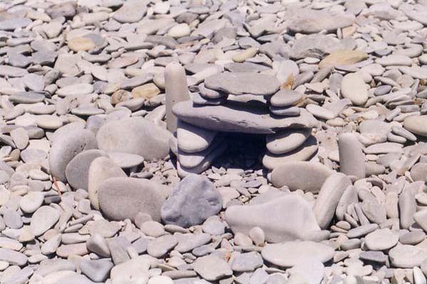 Геленджик, галька на пляже