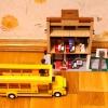 Школа и автобус Sluban