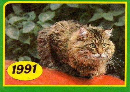 Календарик на1991 год, изд. «Плакат».