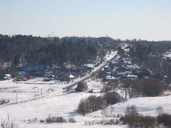 Калуга, Правый берег (вид со смотровой площадки городского парка)