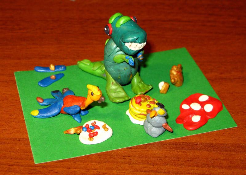 Павлин и динозавр