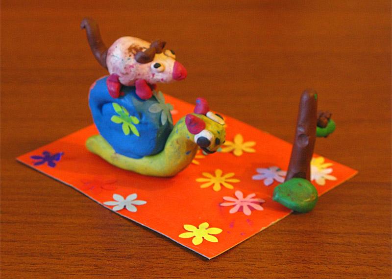 Мышка и улитка