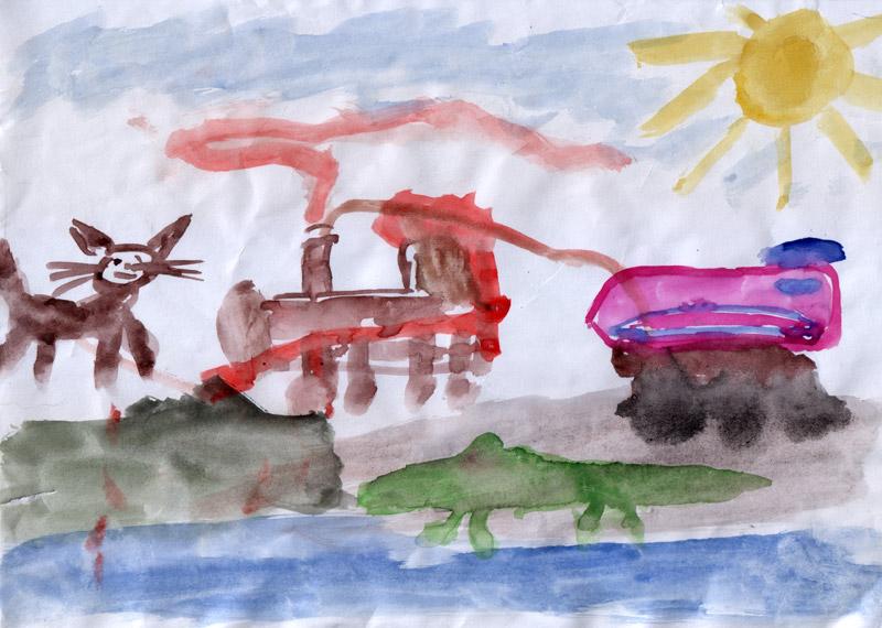 Старый паровоз Пит и Спиди из Чаггингтона