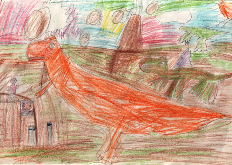 Динозавры и дракончик