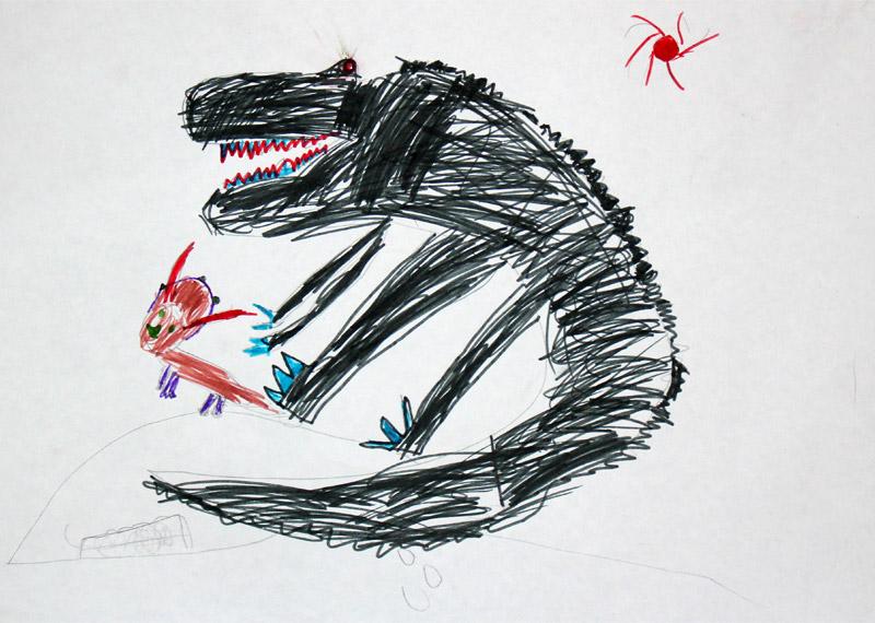 Хищный динозавр и травоядный