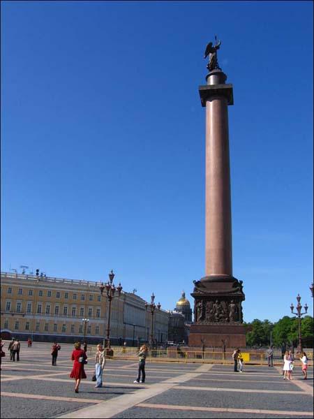 Санкт-Петербург, Дворцовая площадь, Александровская колонна