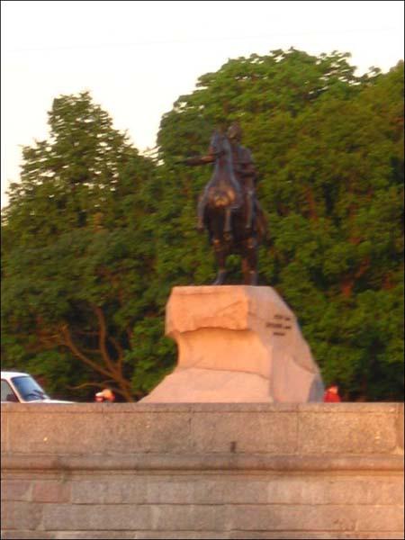 Экскурсия по каналам Петербурга - памятник Петру I (Медный всадник)