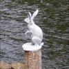 Санкт-Петербург, скульптура зайца при входе на Заячий остров