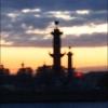 Белые ночи Петербурга - ростральные колонны-маяки