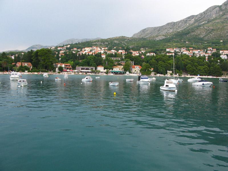 Вид на Сребрено со стороны порта