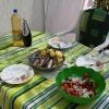Сребрено, угощение от наших гостеприимных хозяев