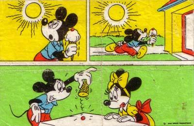 Вкладыш от жевательной резинки Donald (Донадьд).