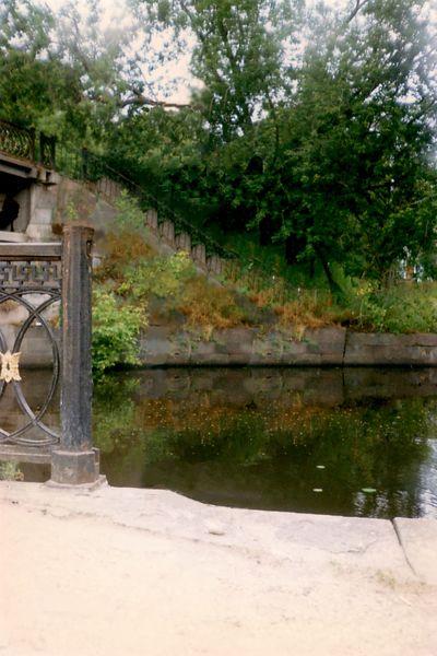Вышний Волочек, часть набережной, мост через Цну