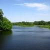 Вышний Волочек, острова на реке Цне, вид с моста