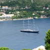 Хорватия, панорамы с форта Роял на острове Локрум