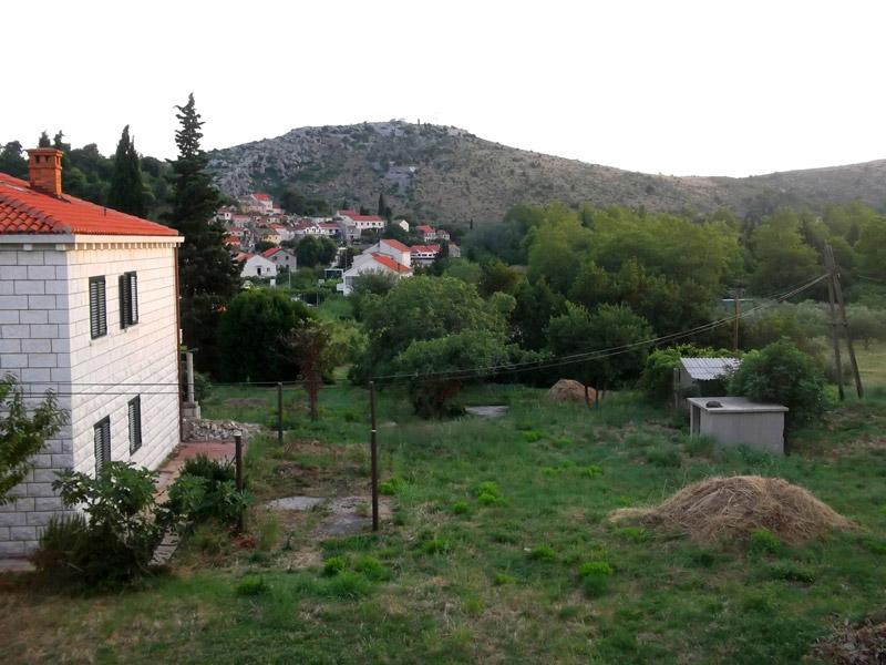 Хорватия, Сребрено, вид с террасы нашего номера