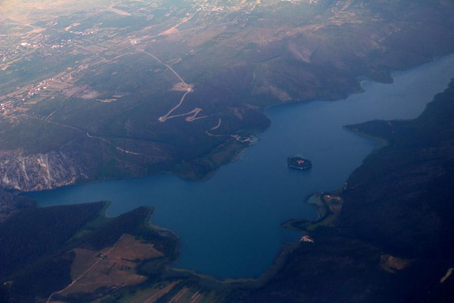 Подлетая к аэропорту Сплит, Хорватия
