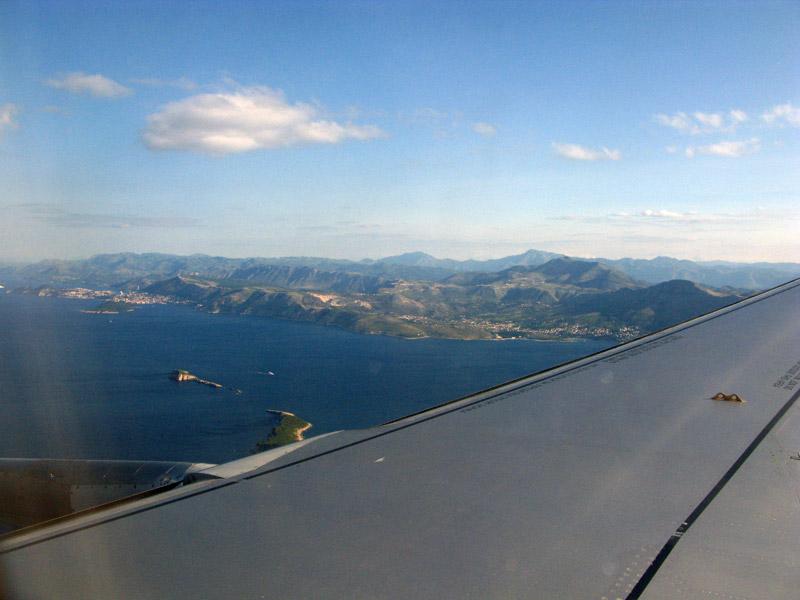 Адриатическое море на подлете к Хорватии