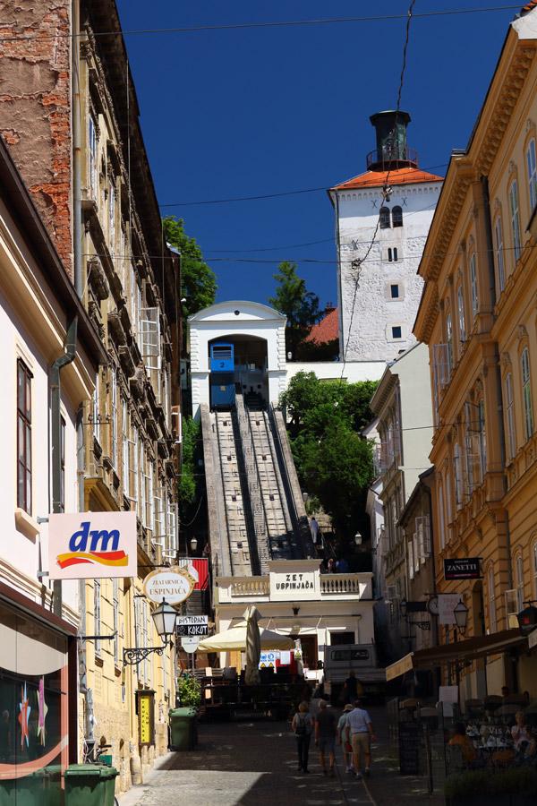 По улицам Загреба. Фуникулер в Верхний город