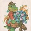Министерство связи СССР. 23.05.80. 8 Марта. З. 4255. 12млн. Крокодил Гена и Чебурашка с цветами.