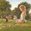 Издательство «Галилея» - оригинал. С днем рождения! Good Luck. Ежик с ягодами, девочка со щенком.