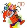 Министерство связи СССР. 18.07.91. 130400. Гном с цветами, символические обручальные кольца.