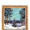 Российская Федерация. 04.12.92. З.130400. С карточкой. Зимний лесной пейзаж.