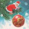 Министерство связи СССР. 31.10.83. С Новым годом! З.8463. 15млн. Дед Мороз-гном привязывает новогодний шарик к ветке елки.