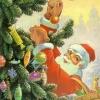 Министерство связи СССР. 13.12.90. С Новым годом! З.91754. 14млн. Дед Мороз наряжает елку.
